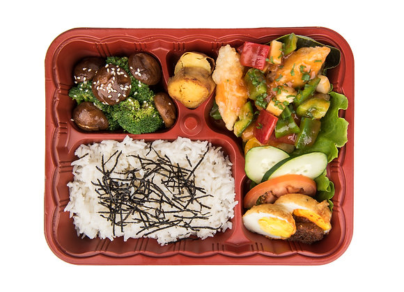 ASIAN BENTO SIGNATURE 4 (Grilled Chicken Drumlets)