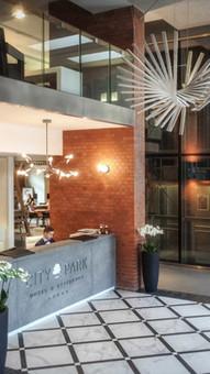 Projekt recepcji i strefy lobby w Hotelu City Park Poznań