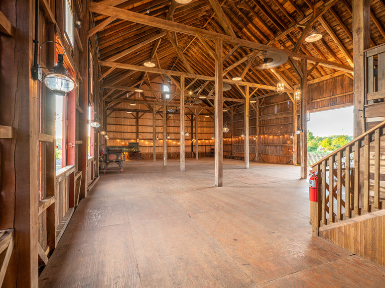 Ample amount of floorspace for your private party at Case-Barlow Farm.