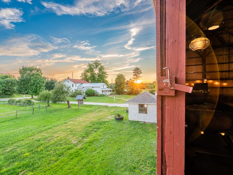 Sunrise over Case-Barlow Farm
