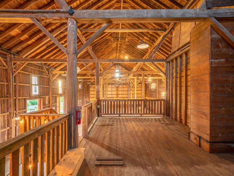 Loft inside of Case-Barlow Farm's 1890's Bank Barn located in Hudson, OH