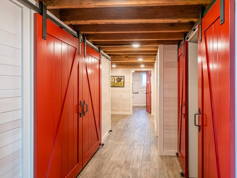 Renovated Bathrooms in Historic Barn at Case-Barlow Farm.