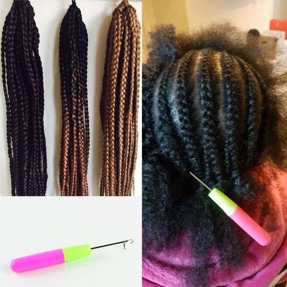 Crochet braids how to diy in just in 1 hour already pulled very much faster than the traditional braiding method because you the user would have purchased packs of already braided hair extensions all you do solutioingenieria Image collections