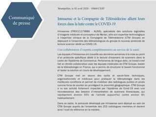 Intrasense et CTM Groupe allient leurs forces dans la lutte contre le COVID19