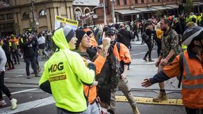 혼돈에 빠진 멜버른…'지진, 시위, Covid-19 사망자'까지