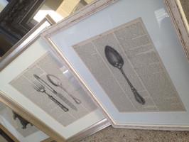 Cuttlery dictionary print custom framed