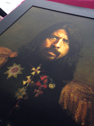 Dave Grohl Art Print detail