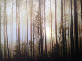 Wild woods large tapestry