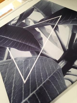 Triangle B&W tapestry