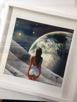 Fine Art print, moon & lady