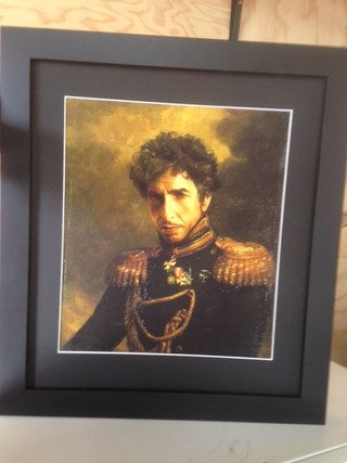 Bob Dylan Fine Art print in black