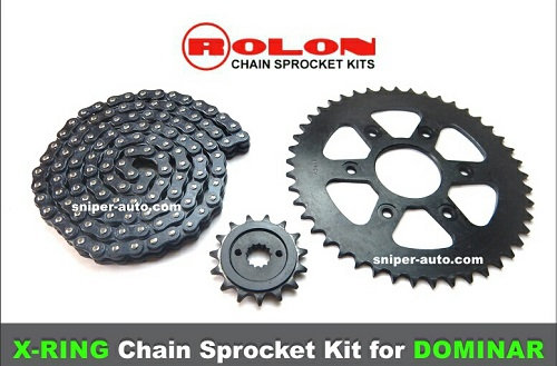 DOMINAR- ROLON- X-RING CHAIN SPROCKET KIT (FREE SHIPPING)