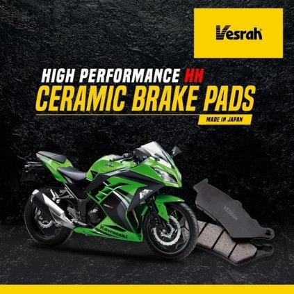 VESRAH CERAMIC BRAKE PADS- NINJA 250 / 300 / 400
