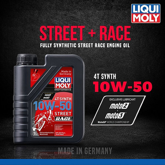 LIQUI MOLY 10W50 STREET RACE- FULLY SYNTHETIC- 1lt.