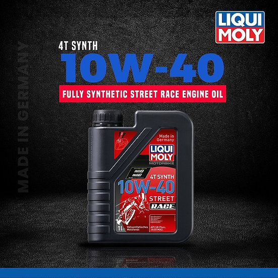 LIQUI MOLY 10W40 STREET RACE- FULLY SYNTHETIC- 1lt.
