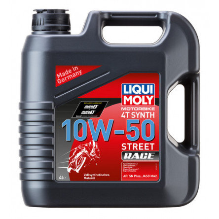 LIQUI MOLY 10W50 STREET RACE- FULLY SYNTHETIC- 4lts.