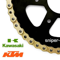 All New Brass-Plated Gold Chain Sprocket