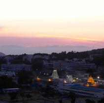 Sonnenaufgang Tempelanlage