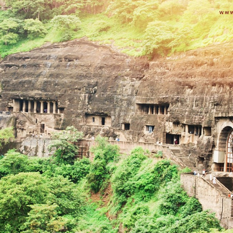 Ajanta Höhlen, Indien