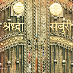 Shirdi Tempel Tür, Indien