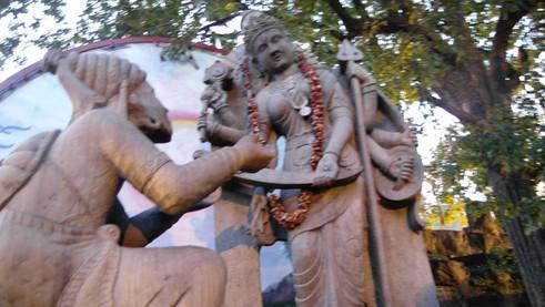 Göttliche Mutter  segnet Shivaji
