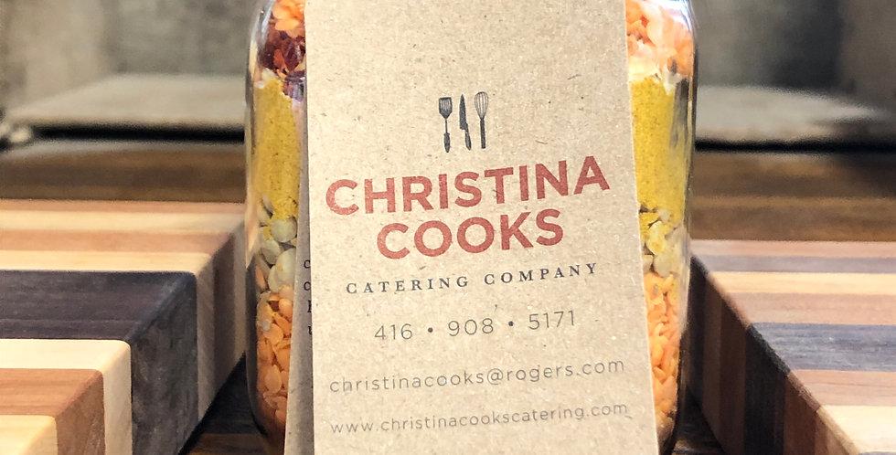 Christina Cooks - Curried Lentil Soup (Gluten Free & Vegan)