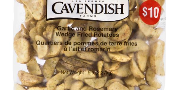 Cavendish Garlic & Rosemary Potato Wedges(5lb)