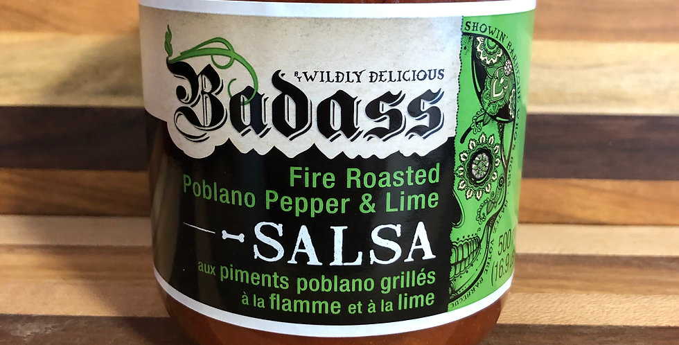 Wildly Delicious Salsa: fire roasted poblano & lime(500ml)