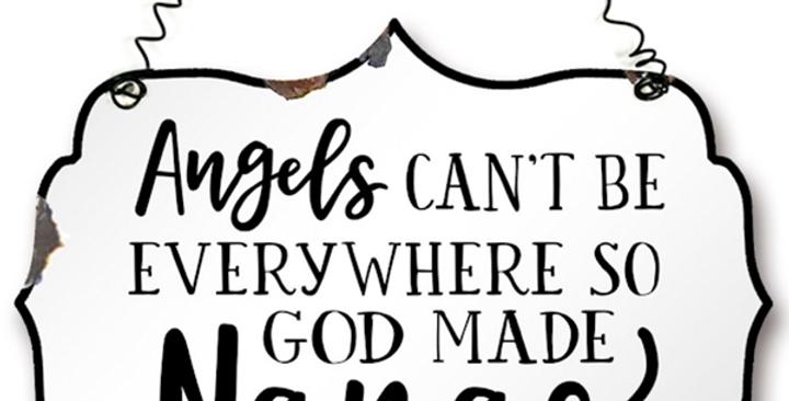 Angel Nana's Metal Sign