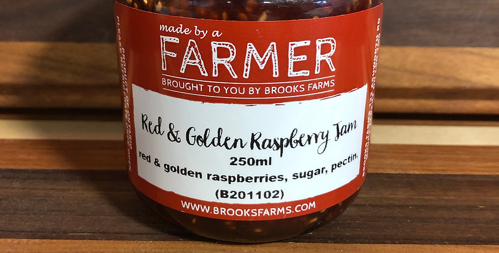 Brooks Farms Red & Gold Raspberry Jam (250ml)