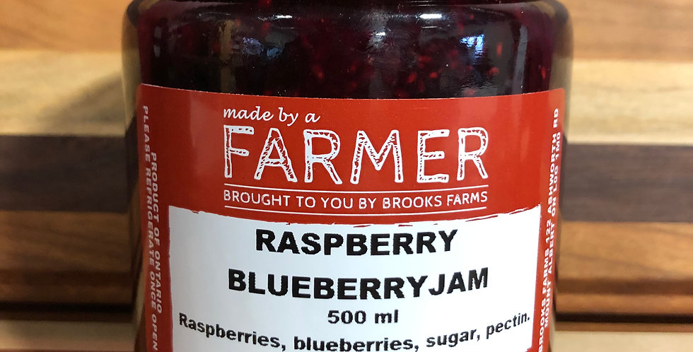 Brooks Farms Raspberry Blueberry Jam (250ml)