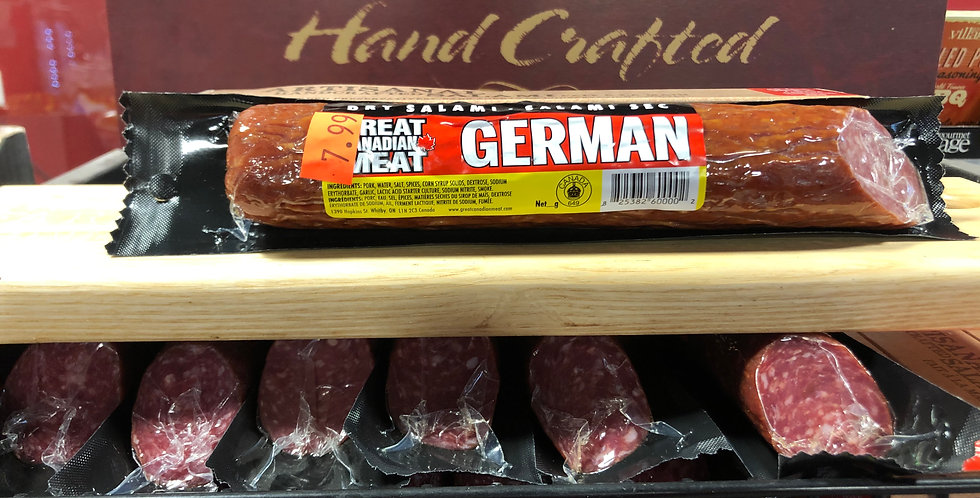 Great Canadian Meat Dried Salami: German