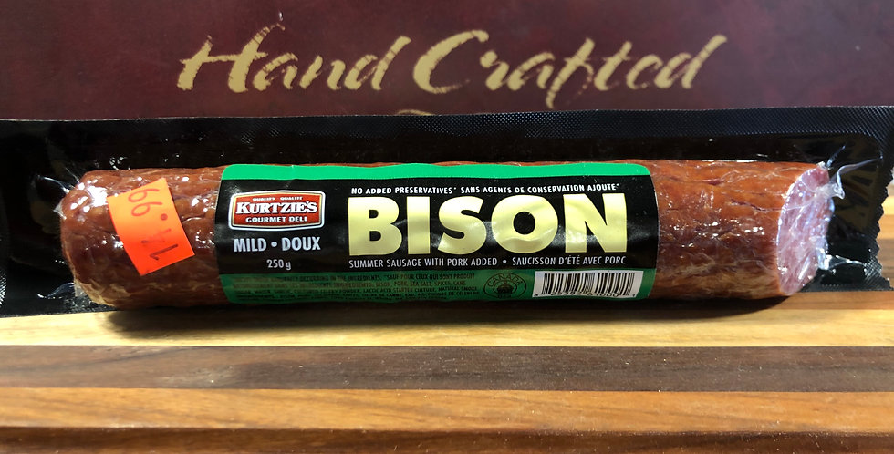 Great Canadian Meat Dried Salami: Bison