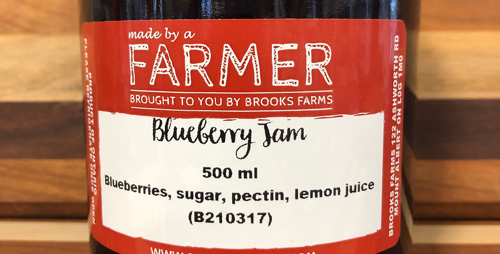 Brooks Farms Blueberry Jam(500ml)