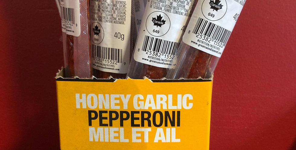 Great Canadian Meat Company Salami Singles: Honey Garlic(40g)