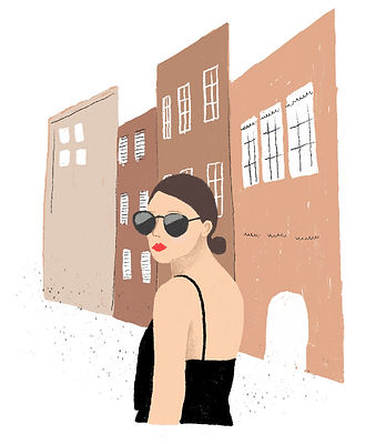 katie byrne portrait paris illustration