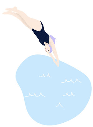 katie byrne dive water capri illustration