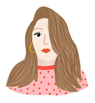 katie byrne portrait illustration