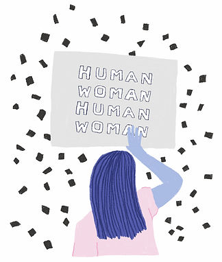 katie byrne woman human rights illustration