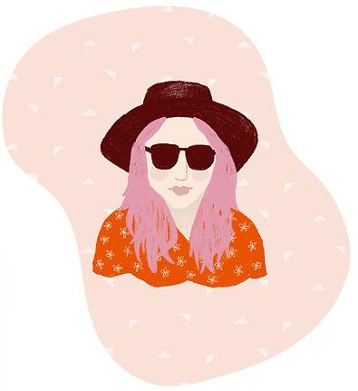 katie byrne portrait sunshine illustration