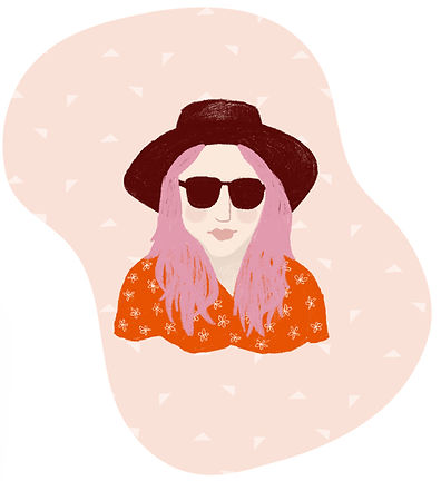 katie byrne portrait sunshine illustration