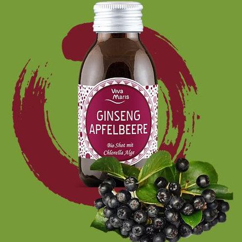Viva Maris Bio Shot Ginseng Apfelbeere mit Chlorella Alge, 12x100 ml