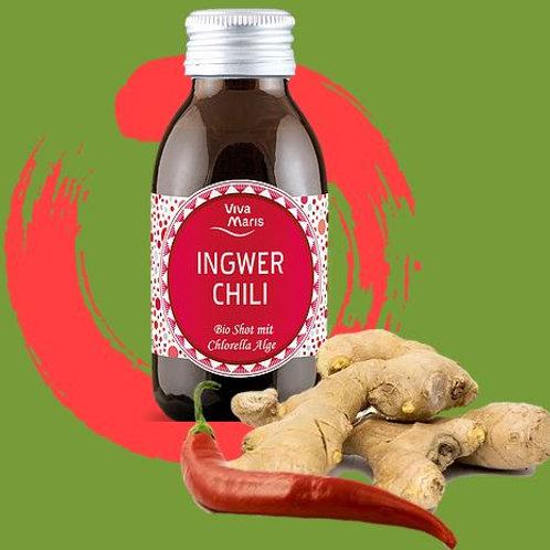 Viva Maris Bio Shot Ingwer Chili mit Chlorella Alge, 12x100 ml