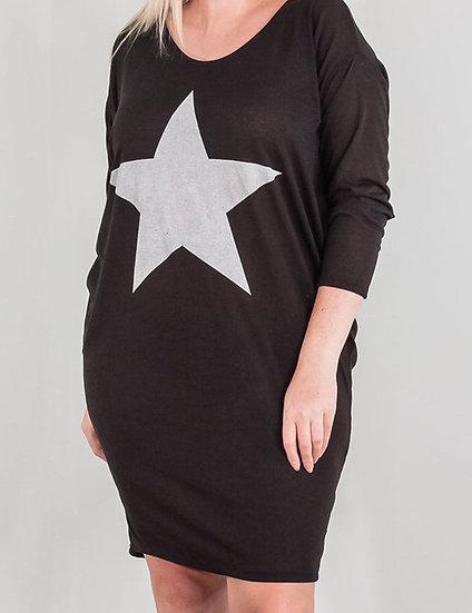 Strap Back Star Soft Knit Dress/Top