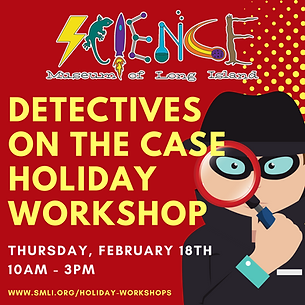 Detectives on the case Holiday Workshop