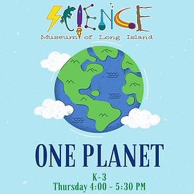 One Planet After School Workshop (K-3 We