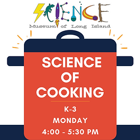 Science of Cooking After School Workshop