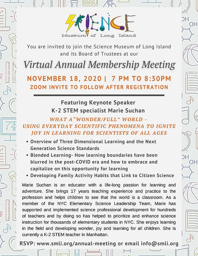 Virtual Annual Membership Meeting Invita