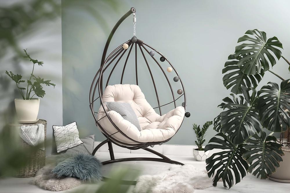 Swinging chair and calm corner