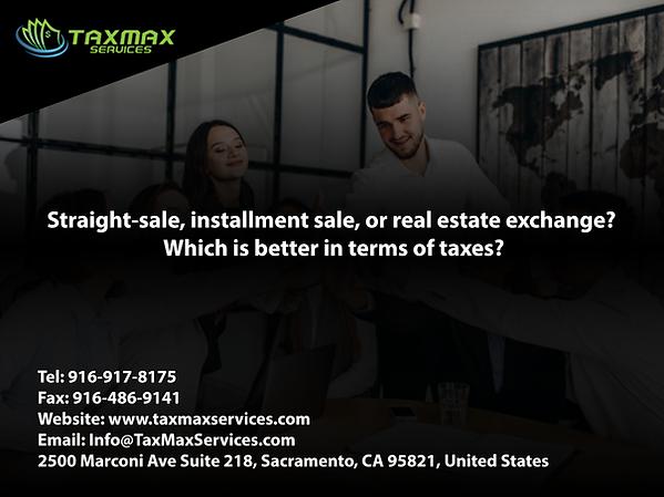 tax services sacramento | taxmax services | real estate exchange